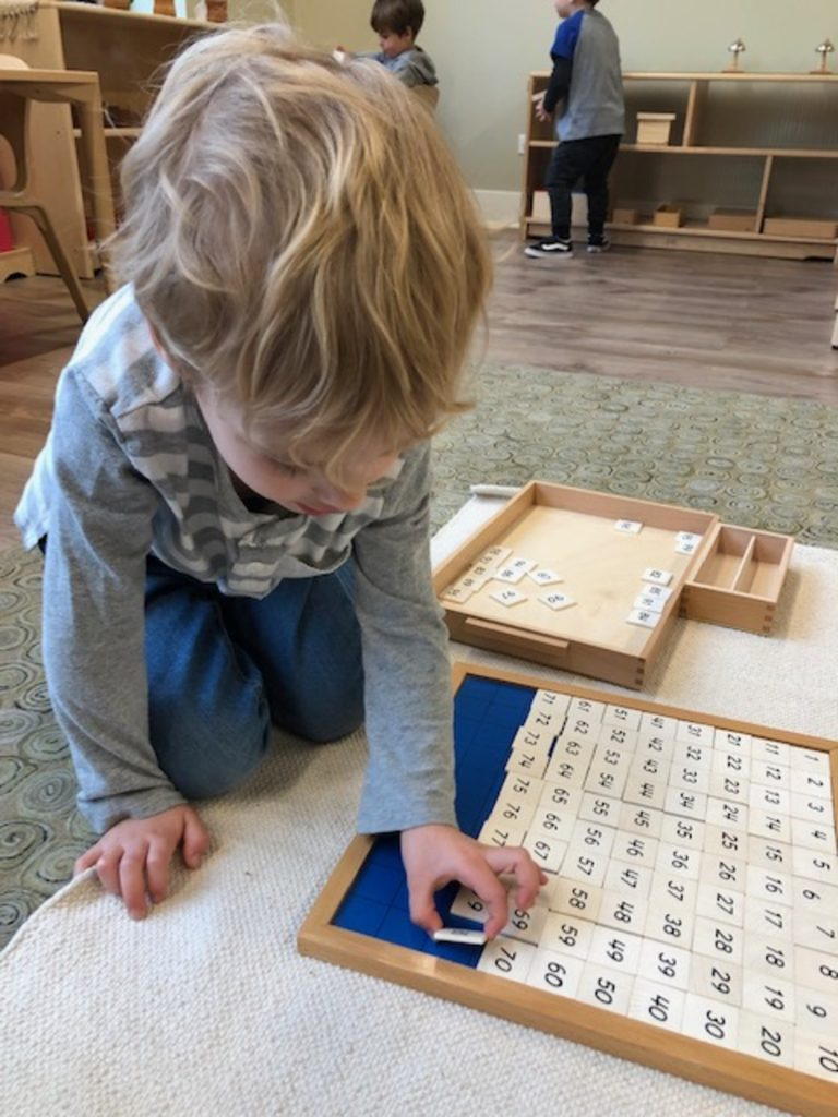 The 100 Board at Montessori