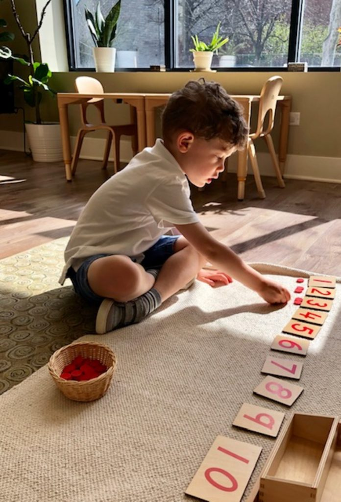 Montessori Math Exercise